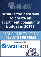 What is the best way to create an apartment community budget in 2017?