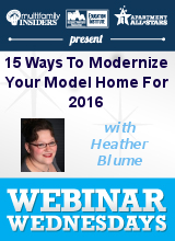 Model (Mis)behavior: 15 Ways To Modernize Your Model Home For 2016