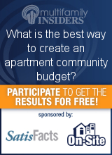 What is the best way to create an apartment community budget?