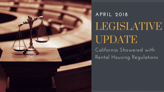 Legislative Update: California Showered with Rental Housing Regulations