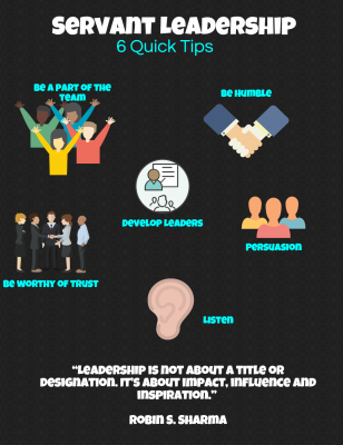 Six quick tips about servant leadership